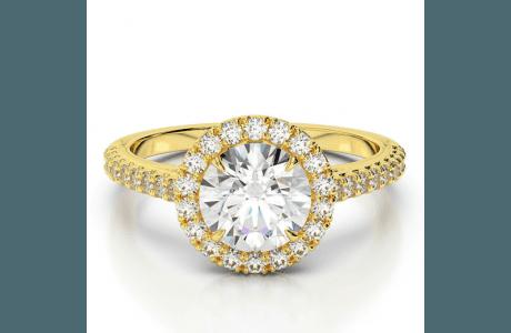 טבעת יהלומים F-105